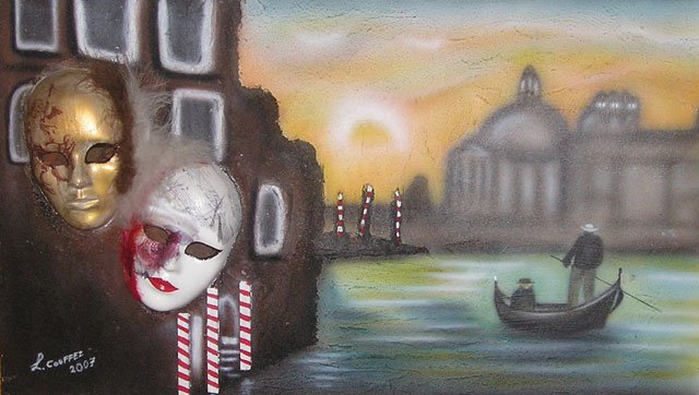 Venice with masks